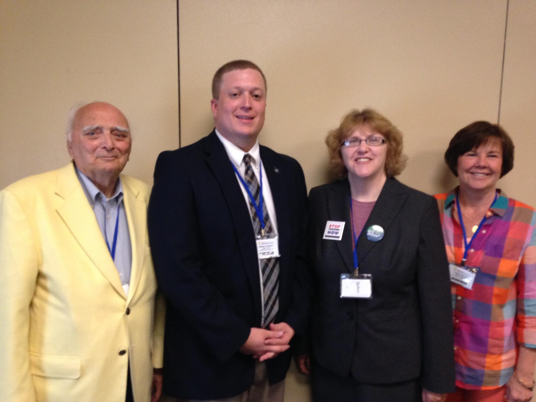 Caucus Officers (from left): Treasurer Paul Maher, Luzerne County, Chair Billy O'Gurek, Carbon County, Vice-Chair Sue Lyons, Monroe County, Secretary Colleen Gerrity, Lackawanna County.