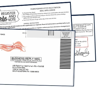 Image: Direct Mail Pieces to Register PA Voters